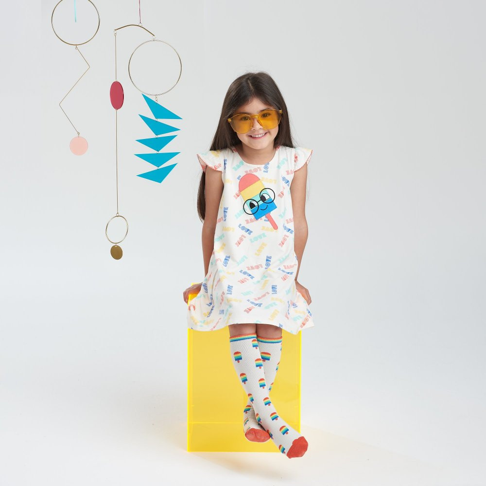The bonnie mob IBIZA - Baby Motif Dress ICE LOLLY