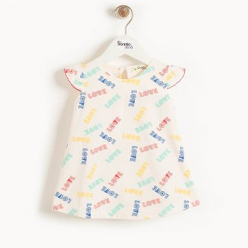 thebonniemob The bonnie mob BALI - Baby Dress With Frill Shoulder LOVE