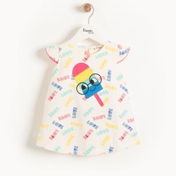 thebonniemob The bonnie mob IBIZA - Baby Motif Dress ICE LOLLY