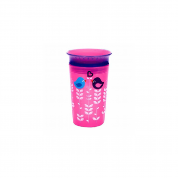 Munchkin Munchkin Κύπελο Miracle 360° Deco Sippy Cup Pink Bird